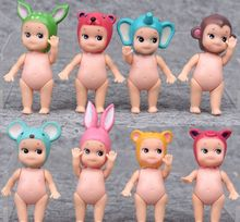 8 pcs/set Kewpie Doll Sonny Angel Doll Set Toy,Sonny Angel Animal Series PVC Figure Doll Toys