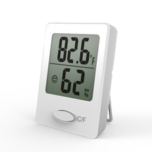 Cheap price Mini digital thermometer and hygrometer indoor small desktop thermometer stand at the table, wall mount or magnet attached