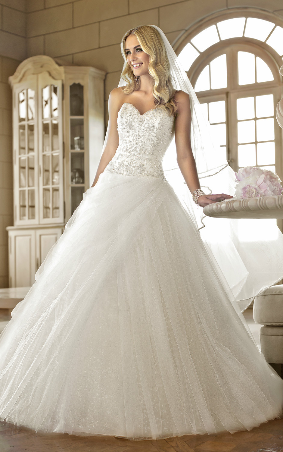 Free Shipping gorgeous fairytale designer ball gown /bridal dress ...