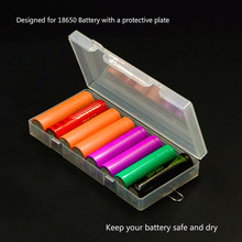 High Transparent Battery Storage Box for 8pcs 18650 Battery Holder Case with Hook Holder Transparent Strong Hard Case