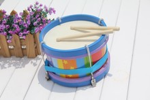 Baby brand pat hitter Marching drum wooden music instrumental toys, Kids Child early learning educational toys, 1pc/box