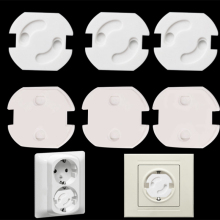 10 шт., европейская розетка, электрическая розетка, защита для детей, защита от ударов электрическим током, защита, Вращающаяся крышка