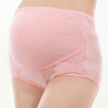 गर्भवती महिला अंडरवियर के लिए 3 पीसीएस / सेट प्लस आकार कपास मातृत्व पैंटी उच्च कमर ब्रीफ गर्भावस्था वस्त्र XXL को सूचित करती है