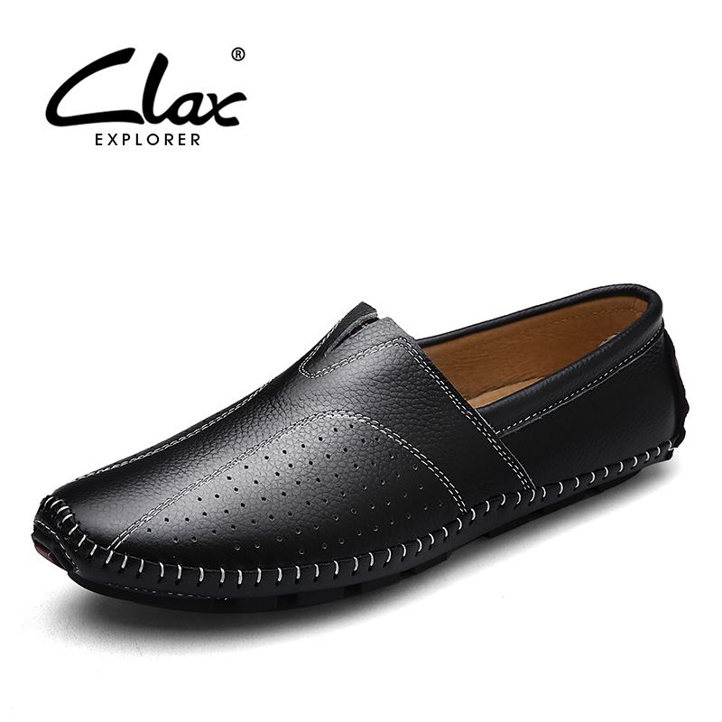 Clax Men Boat Shoes 2017 Spring Summer Leather Loafers for Male Designer Flats Shoe Moccasin Driving Footwear Soft Comfortable 2017 new fashion summer spring men driving shoes loafers real leather boat shoes breathable male casual flats