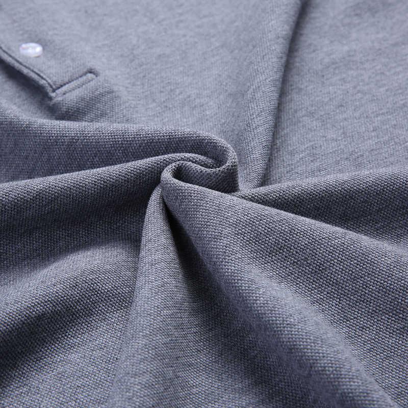 2021 새로운 패션 브랜드 폴로 셔츠 남성 코 튼 긴 소매 슬림 맞는 한국 소년 남자 친구 선물 Poloshirt 캐주얼 남자 옷