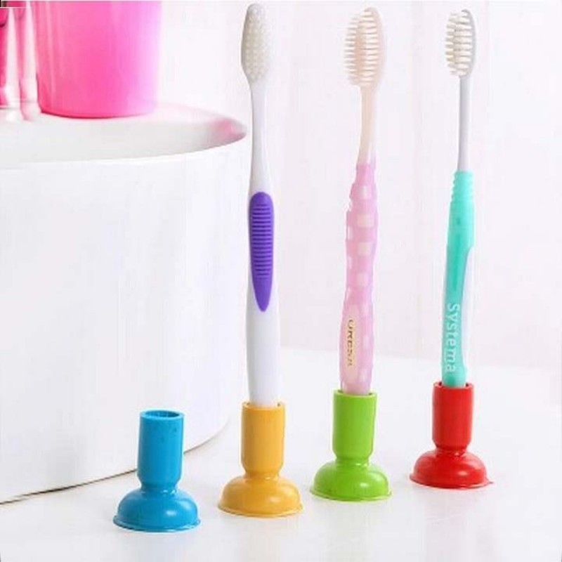 1 Pcs Very Practical Sucker Toothbrush Holder/suction Toothbrush Rack/household Items /bathroom/toothbrush Rack/bathroom Set