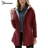Chesmono Warm Women S Plaid Shirt Female Long Sleeve Tops Winter Check Cashmere Casual Blouse Blusas