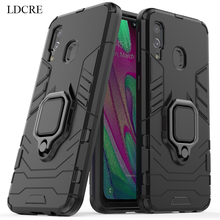 For Samsung Galaxy A40 Case Magnetic Finger Ring Kickstand Hard Phone Cover