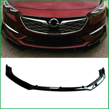 For Opel Insignia Grand Sport 2017 2018 Front Bumper Lip Diffuser Body Kit Lower Grille Spoiler Protector Cover Trim Car Styling