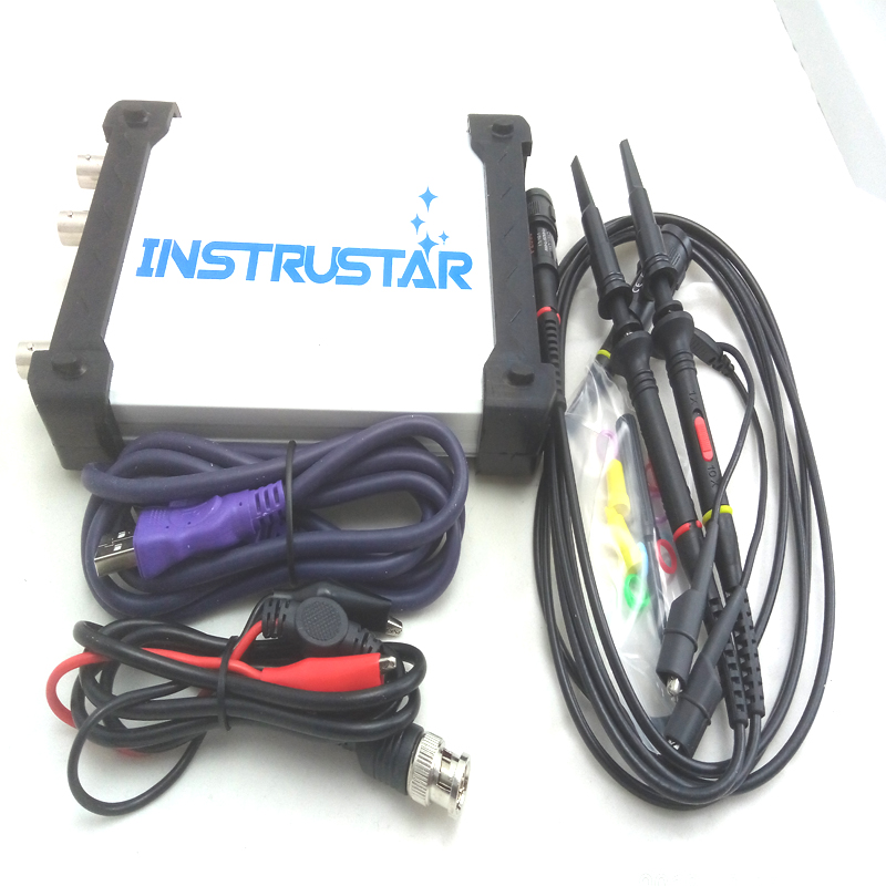 NEW ISD205B 5 IN 1 Multifunctional PC USB Digital virtual oscilloscope+spectrum analyzer+data recorder+DDS+Sweep 20M 48MS/s