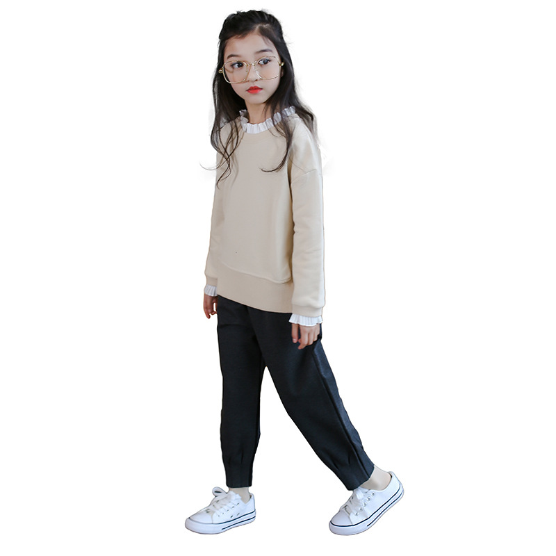 Tshirt For Girls Spring 2018 Long Sleeve Solid Tops For Teenagers 5 6 7 8 9 10 11 12 13 14 15 Years Big Kids Casual Clothes