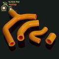 Orange Силиконовые Радиатор Радиатор Охлаждающей Жидкости Шланг Комплект Для KTM 450 EXC EXC-R XCW 2007-2010 07 08 09 10 Мотоциклов