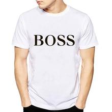 New Retro T shirt men Fashion 2019 Boss Letter Print short s