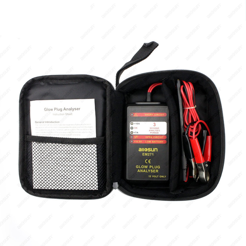 Free Shipping 12v Vehicle Automotive Glow Plug Analyzer Portable Led This Is The Simple 12 Volt Circuit Display Auto Failure Diagnostic Tool Car Engine Tester In Testing Equipment From