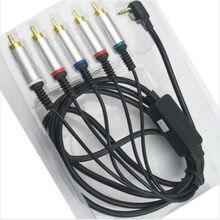 Darmowa wysyłka wysokiej jakości AV TV wideo kabel komponentowy przewód przewód zasilający dla PSP 2000 3000 PSP2 PSP3 9141