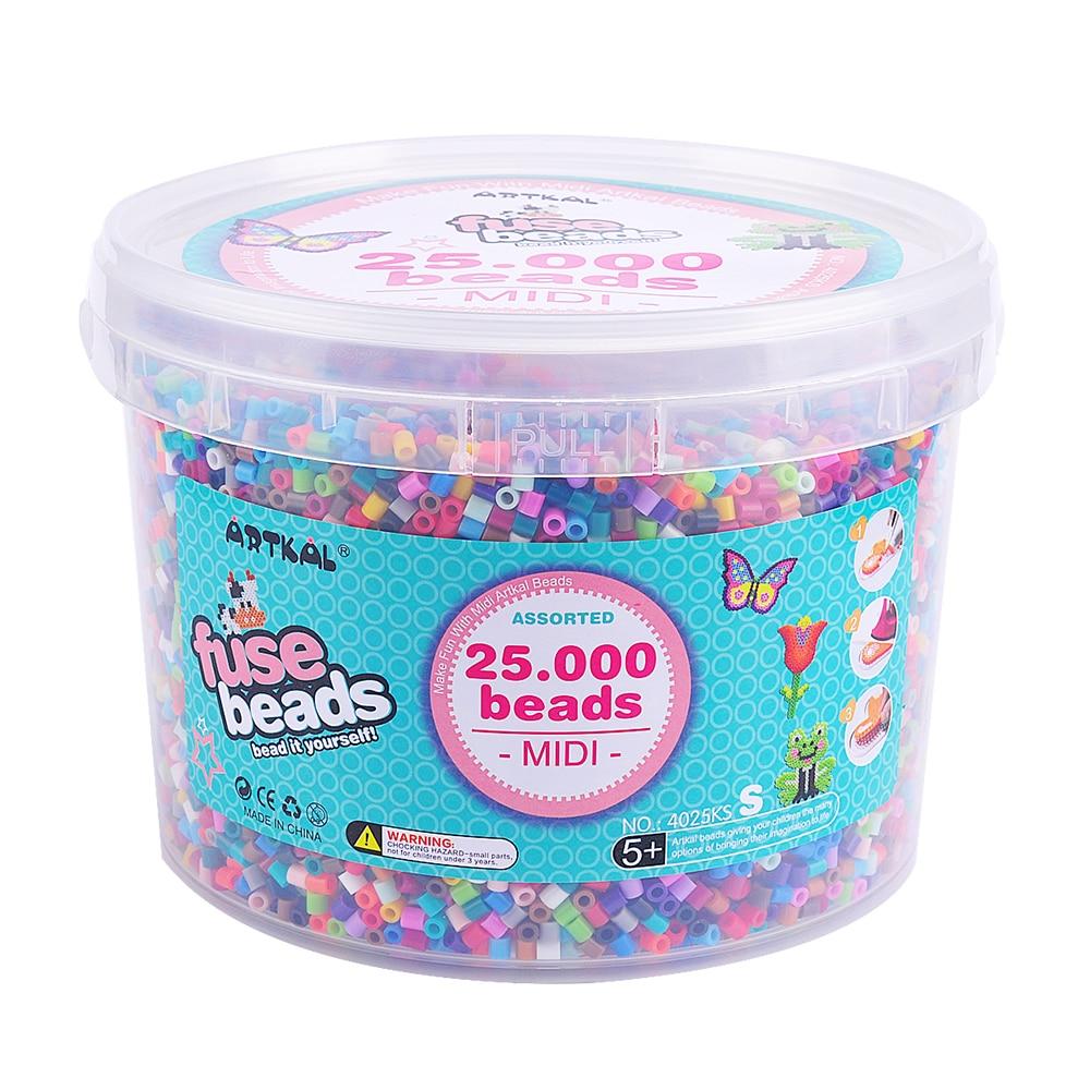 25,000 Pcs Artkal Beads Bucket Set Funny Jewerly Kit Set Perler Hama Beads