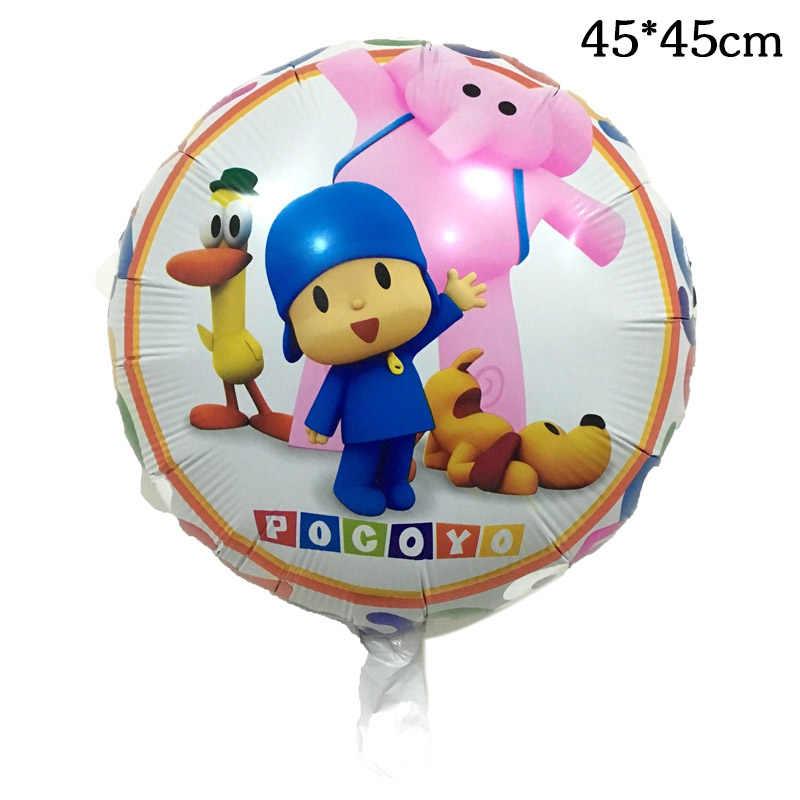 5 pçs/lote Pocoyo Pocoyo Balões Dos Desenhos Animados Balões Festa Feliz Aniversário Balão Da Folha Balão de Ar dia das Crianças Menino Balão de Hélio Brinquedos
