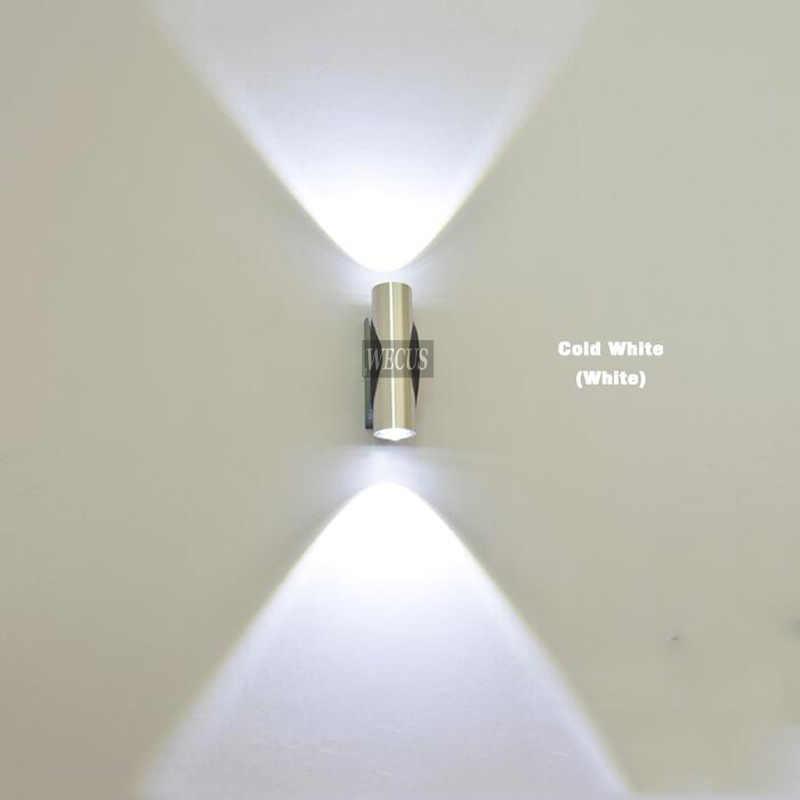 В помещении 2 Вт светодиодный настенный светильник, AC90-265V, акрил, абажурный материал бра из алюминия, спальня, украшение, настенный светильник
