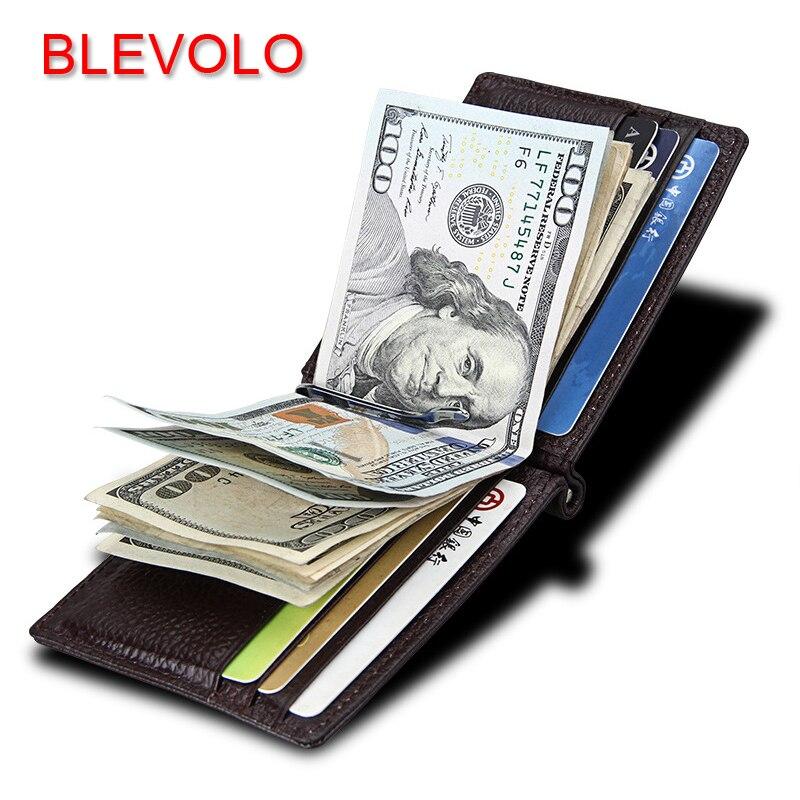 BEVOLO Brand Men Women Wallets Genuine Leather Short Purses Wallet Ultra Thin Male Female Money Clips Soft Solid Clutch Wallet автомобиль кран полесье mammoet с поворотной платформой 56771