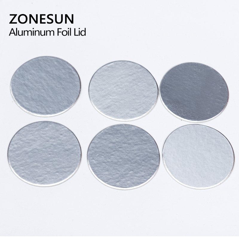 ZONESUN induction sealing customized size plactic laminated aluminum foil lid liners 500pcs for PP PET PVC PS ABS glass bottles