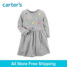 Carter s 1 Piece baby children kids clothing Girl Long Sleeve French Terry Dress 251G517