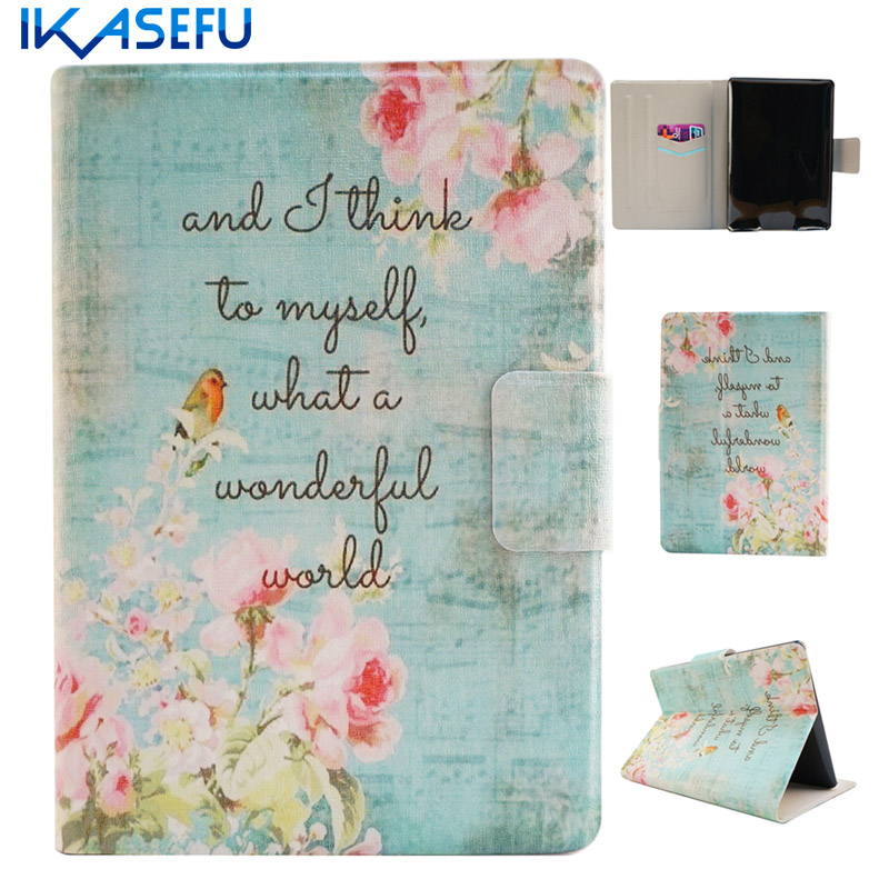 IKASEFU PU Leather for Amazon Kindle Paperwhite 1 2 3 6 inch Case Cover Fundas Coque for kindle paperwhite capa with Card Slots
