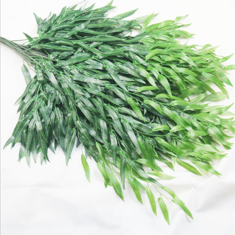 36 sztuk zielony liść wierzby Rattan fałszywe zieleni Willow winorośli na ślub roślin ściany rośliny ozdobne w Sztuczne rośliny od Dom i ogród na  Grupa 1