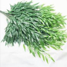 36pcs Silk Green Willow Leaf Rattan 110cm Fake Greenery Willow Vines for Wedding Plant Wall Decorative Plants barbour neuston twill willow green page 6