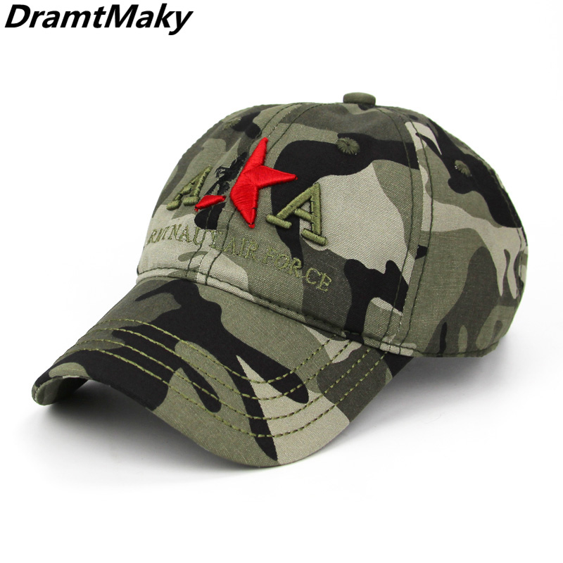 New Brand Fashion Army Camo   Baseball     Cap   Men Women Tactical Sun Hat Letter Adjustable Camouflage Casual Snapback   Cap   embroidery