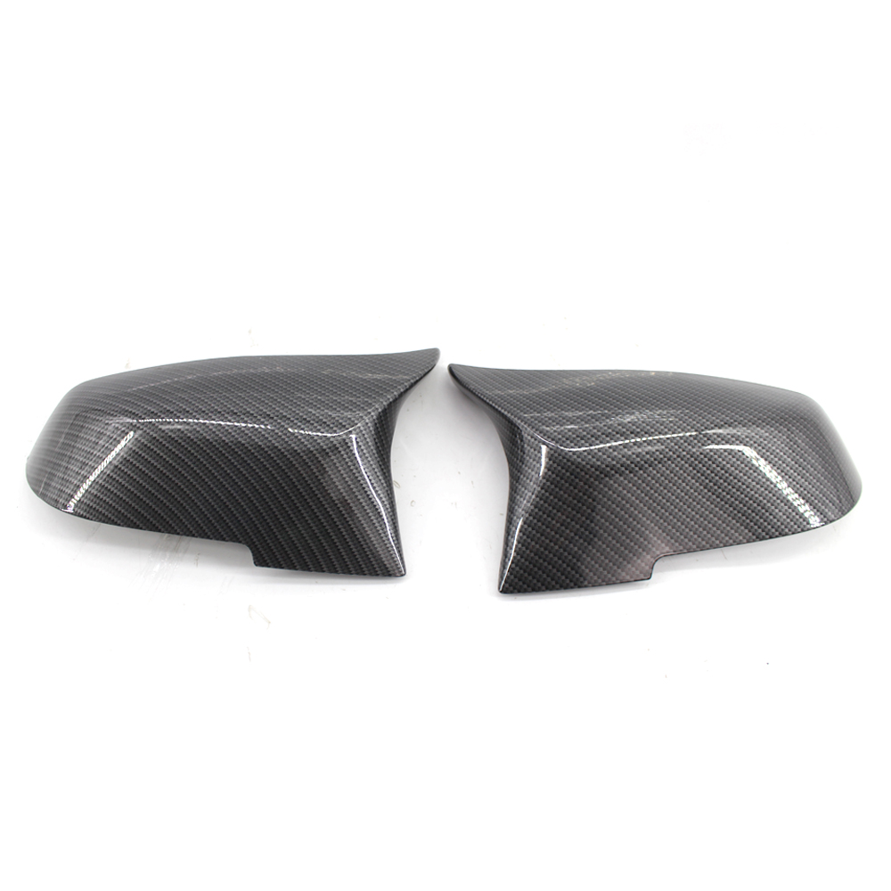 2pcs Rearview Mirror Cover Trim Decorate Frame Cap for BMW Series 1 2 3 4 X M 220i 328i 420i F20 F21 F22 F23 F30 F32 F33 E84 F87