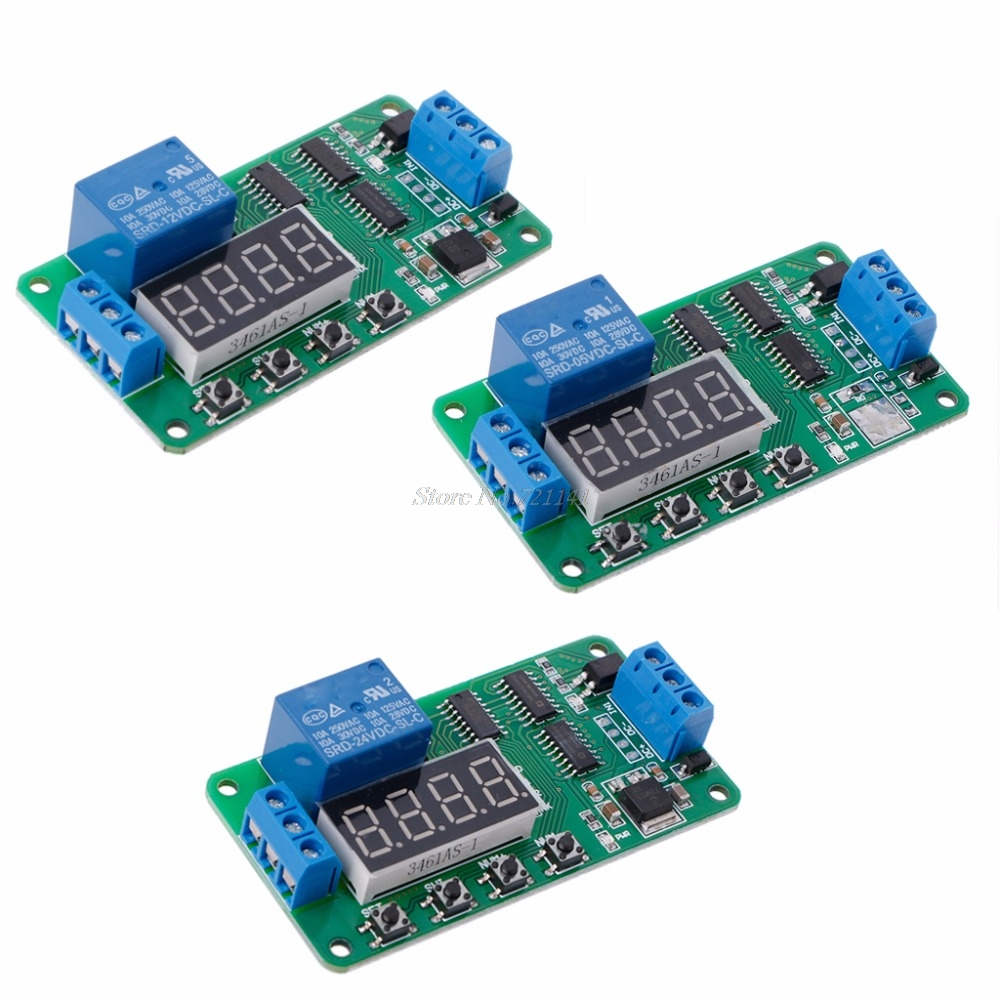 Dc 5v 12v 24v Multifunction Delay Relay Timer Switch Turn On Circuit Off Plc Module In Integrated Circuits From Electronic Components Supplies