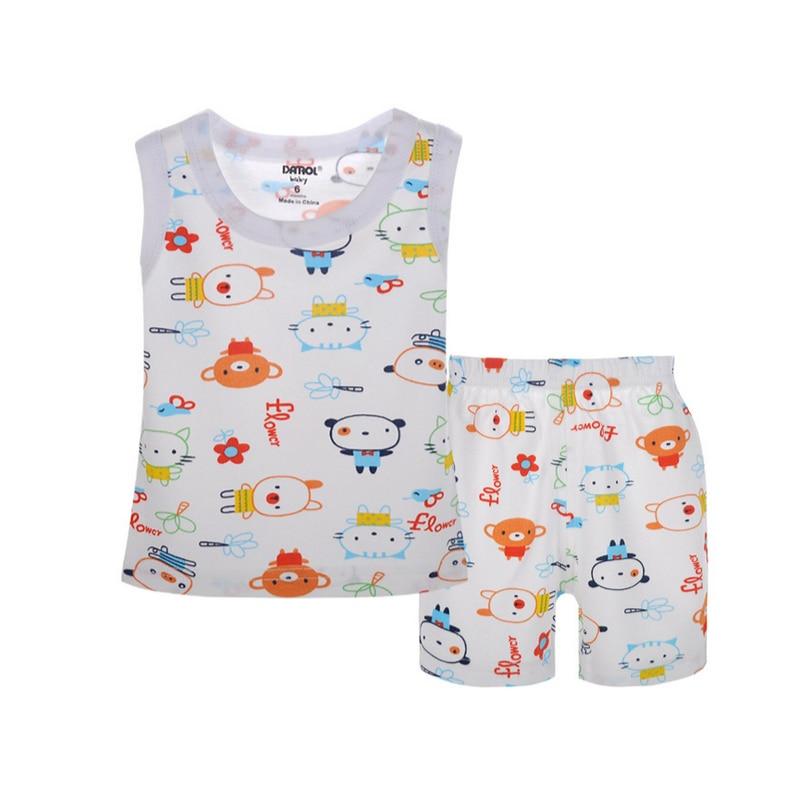 Sada potištěných oděvů 100% bavlněná vesta + krátké kalhoty - Dětské oblečení