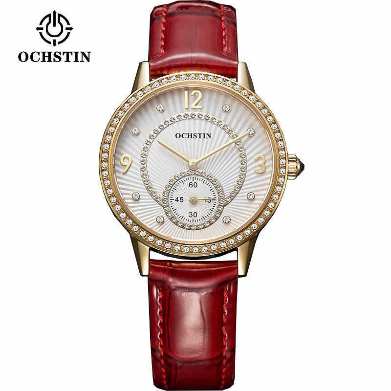 OCHSTIN Women Casual Watch Waterproof Luxury Brand Rhinestone Quartz Watches Relogio feminino Clock Ladies Gold Dress Wristwatch weiqin new 100% ceramic watches women clock dress wristwatch lady quartz watch waterproof diamond gold watches luxury brand