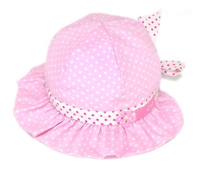 6dbb30f71f78d New Baby Girl Kids Newborn Infant Children Polka Dot Flower Bebe Bonnet Sun  Hat Cap Beanie Hair Accessories Hats Caps Headwear-in Hats   Caps from  Mother ...