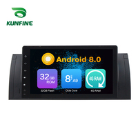 Octa Core 4GB RAM Android 8.0 Car DVD GPS Navigation Multimedia Player Car Stereo for BMW X5 E53 2000 2001 Radio Headunit Device