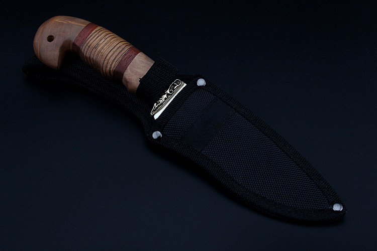 Купить с кэшбэком 2020 New Free Shipping High Quality Tactical Fixed Blade Stainless Steel Color Wood Handle Outdoor Survival Hunting Knives Tools