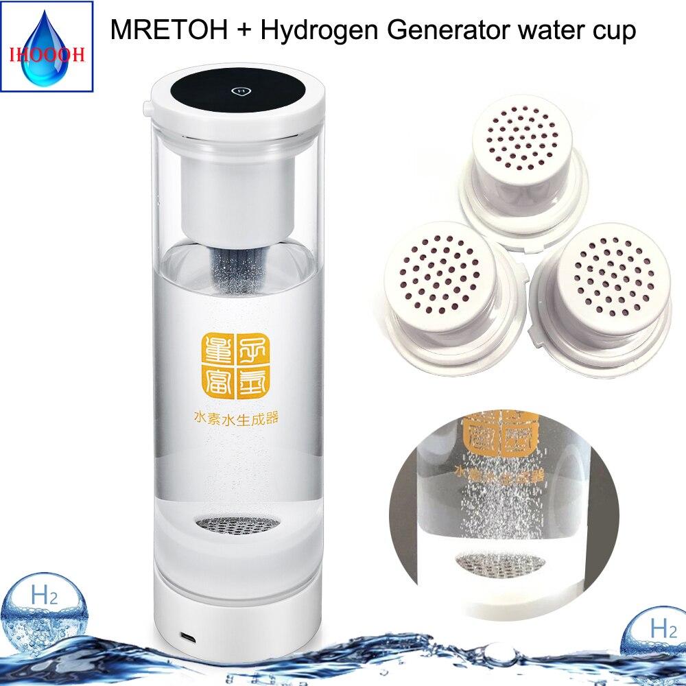 Rica Em hidrogénio gerador + Ressonador MRET OH 7.8Hz Onda de Baixa Frequência Schumann Molecular H2 xícara de água 600ML