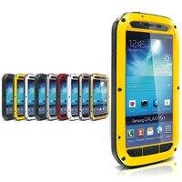 Miłość Mei Nowy Wysokiej Jakości Skrzynki Pokrywa Dla Samsung Galaxy S4, Odporna Na Wstrząsy Dirtproof Aluminiowa Wodoodporna