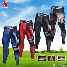 Cody Lundin Mens Leggings Compression Tights Subliamted Printed Bodybuilding Skinny GYM Pants Sportswear Yoga Running Pants