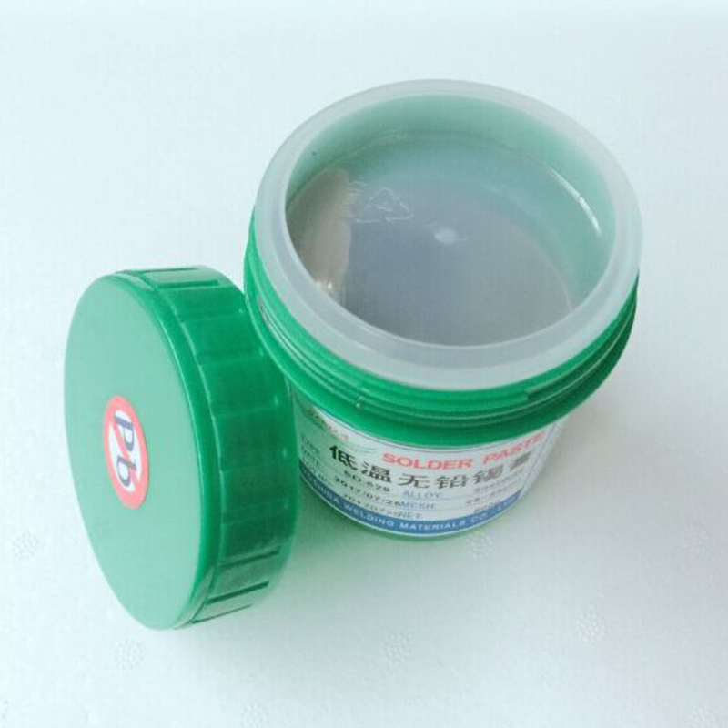 Low temperature lead-free SMT solder paste led solder paste low melting Sn42Bi58 500 grams