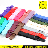 Colorful 17 18 19 20mm Watchbands For Swatch Suor704 Suob704 Suwb701 Watches Plastic Pin Clasp Accessories