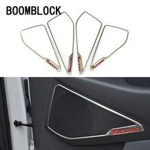 BOOMBLOCK 4 шт./компл. автомобиля чехлы для hyundai Tucson интерьер передней двери Динамик Роговая оправа отделкой наклейки