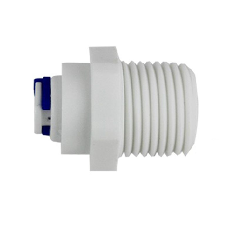 1/4 OD Tube PE Pipe Fitting Blue Clip C-ring Hose Quick Connector Aquarium RO Water Filter Reverse Osmosis System water purifier parts hose flow bend clip 90 degree 1 4 pe tube elbow corner device reverse osmosis system hose pipe diversion