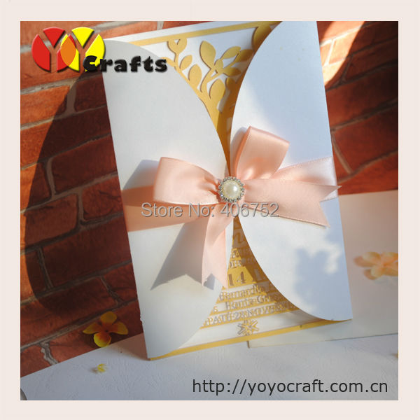 Custom order Laser Cut Wedding Invitation Cards with customers' personalization laser cut information with envelop Karachi