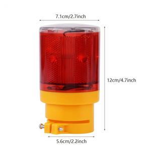 Image 5 - Rouge jaune voyant solaire LED bateau lumière Navigation durgence Flash lumière bateau alarme lampe pour avertissement de route de la circulation