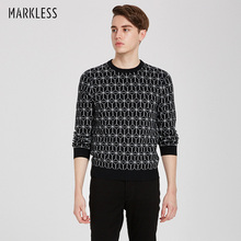 Markless O-neck Wool Sweater Men 2018 Autumn Winter Thick Warm Pullover Men Sweaters pull homme sueter hombre
