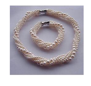 Gros bijoux pour femmes bijoux de mariage ovéité naturel mer du sud perle 5 rangées collier ensemble femmes en argent