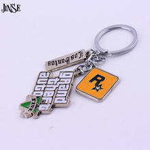 PS4 GTA 5 Game keychain Hot Sale ! Grand Theft Auto 5 Key Chain For Fans Xbox PC Rockstar Key Ring Holder 4.5cm Jewelry Llaveros