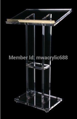 Pulpit Furniture Free Shipping Popularity Beautiful Firm Modern Design Cheap Clear Acrylic Lectern Acrylic Podium