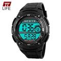 TTlife 1203 Hombres Deportes Impermeable Reloj Cronógrafo Militar Relogio masculino Moda Al Aire Libre Para Hombre Deporte relojes de Pulsera Digitales